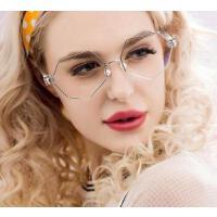 复古透明框大框超大光学镜框女 不规则平光眼镜架墨镜 潮 支持礼品卡