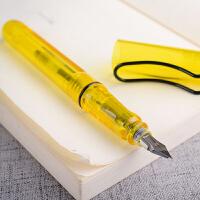 派顿SIKIB F-16彩色墨水大中小学生男女生书写示范钢笔办公用品创意礼品文具签字笔学习用品成人练字笔流畅 透明黄0