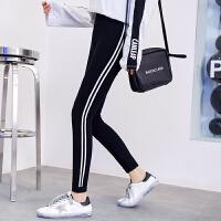 《超值》 班图诗妮 运动打底裤女薄款小脚2018新款外穿韩版高腰显瘦紧身秋季