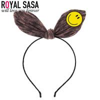 皇家莎莎发箍时尚笑脸儿童发饰头饰日韩版兔耳朵盘发卡子配饰品