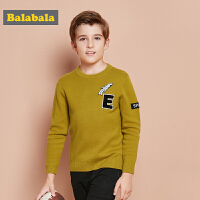 巴拉巴拉童装男童儿童毛衣中大童秋装2017新款纯棉圆领长袖针织衫
