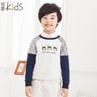 初语童装冬装新款男童卫衣圆领儿童卫衣T5405210021