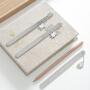 创意手绘便携式迷你手账多功能挂件铝尺 尺子 学生 可爱