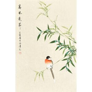 河南美术家协会会员许鲁四尺三开花鸟画gh04812
