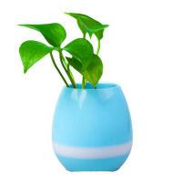 多功能音乐花盆智能蓝牙音响七彩灯真植物可弹琴绿植盆栽迷你低音炮音箱