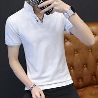 男装新款韩版时尚夏装短袖男装polo衫男韩版大码休闲短袖T恤