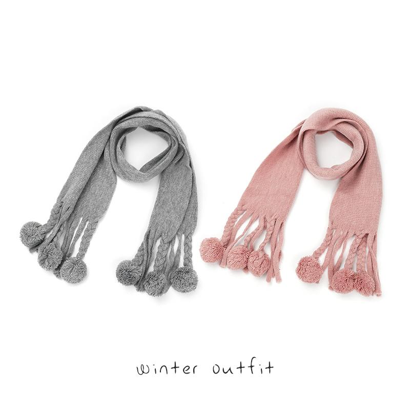 宝宝围巾秋冬季婴儿围脖毛线儿童女童小孩可爱保暖