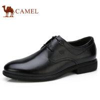 camel 骆驼男鞋秋季新品商务擦色雕花轻舒耐折商务正装皮鞋
