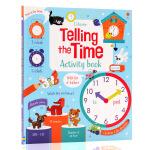 英文原版绘本Usborne尤斯伯恩图书Telling the time activity book 认识时间 幼儿早教