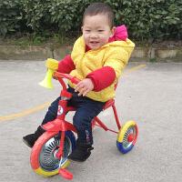 80后经典怀旧儿童铁质小三轮车小孩脚踏车宝宝无印自行车老式童车