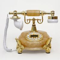 玉石时尚家居装饰复古田园电话仿古欧式风格机家庭座机