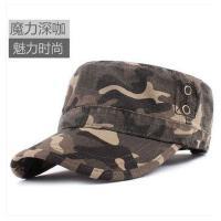 韩版迷彩帽户外防晒遮阳帽太阳帽男士帽子平顶帽