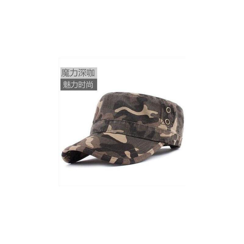 韩版迷彩帽户外防晒遮阳帽太阳帽男士帽子平顶帽 质量保证  售后无忧 货到付款