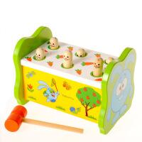 大号木质益智早教启蒙玩具婴幼儿童男女孩宝宝敲击打地鼠