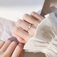情侣开口戒指简约清新创意个性指环女潮人学生网红