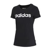 Adidas阿迪达斯 女装 女子运动休闲圆领短袖T恤 CV7026