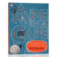 凯迪克银奖 英文原版绘本 Ape in a Cape 怪动物 A-Z 字母书 平装大开 廖彩杏书单