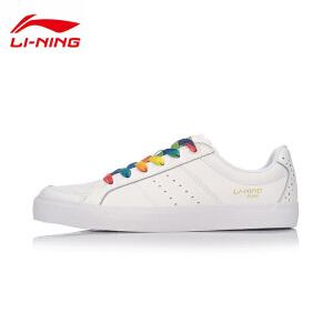 李宁休闲鞋男鞋运动时尚系列耐磨防滑小白鞋运动鞋AGCM121