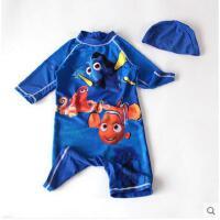 儿童泳衣男童韩国泳装度假泳裤连体防晒速干可爱海底世界宝宝婴儿可礼品卡支付