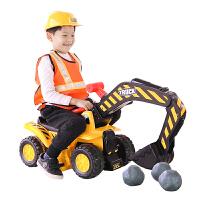 儿童玩具车男孩可坐电动挖土机钩勾机工程车可充电