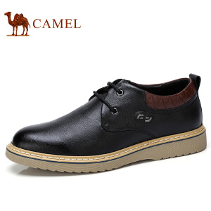 camel 骆驼男鞋 秋季新品低帮牛皮男鞋日常休闲鞋系带耐磨男鞋
