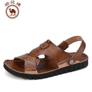 骆驼牌 夏季新款男鞋日常休闲男凉鞋沙滩鞋透气露趾凉拖耐磨