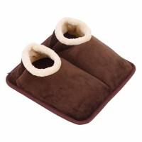 家居暖脚宝可拆洗暖脚器 电暖鞋加热暖脚垫保暖鞋办公