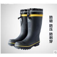 男士户外防水高筒雨鞋橡胶底防穿刺防砸耐磨防滑安全胶鞋 可礼品卡支付