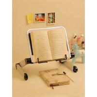 多功能阅读架看书架可调节可升降伸缩简易床上电脑桌小学生用夹书器儿童立式翻书考研神器读书架平板ipad支架