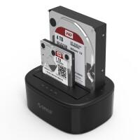 奥睿科ORICO 6228US3 双盘位2.5/3.5英寸串口通用硬盘座USB3.0高速传输 支持SATA、SSD固态