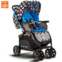 【当当自营】好孩子婴儿推车 婴儿车轻便 高景观婴儿推车 儿童宝宝推车 婴儿车推车C450-h 波点蓝