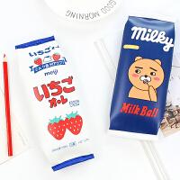 卡通零食趣味笔袋可爱女学生创意文具儿童铅笔收纳袋大容量零钱包