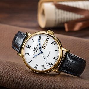 法国复古时尚腕表品牌:雍加毕索Yonger& Bresson-Beaumesnil 博梅尼勒堡系列 YBH 8372-03 B 机械男表