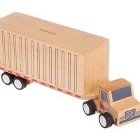 澳洲UDEAS 存储零钱罐卡车 拆装车模型 木制玩具车模型玩具 891076的士bus