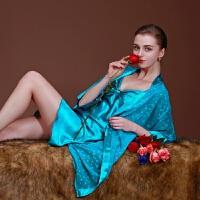 睡裙女夏 吊带睡袍两件套装女士春夏季雪纺睡衣家居服睡裙 均码