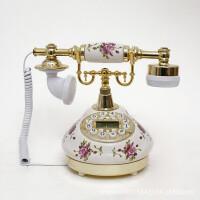 至臻精品座机电话古董仿古电话欧式复古电话创意田园陶瓷电话机