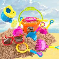 沙滩玩具 儿童沙滩戏水玩沙玩具车套装 玩沙户外玩具9件套
