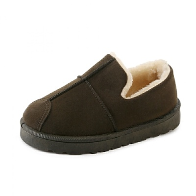雪地靴女短筒韩版学生休闲面包鞋女鞋冬季懒人一脚蹬保暖加绒棉鞋