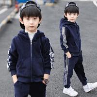 童装男童金丝绒秋冬装运动套装儿童洋气两件套潮