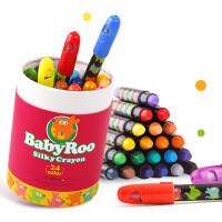 美乐儿童可水洗丝滑蜡笔水溶性旋转炫彩棒宝宝涂鸦油画棒