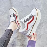 内增高小白鞋女2019春季新款韩版百搭厚底坡跟高跟网红单鞋休闲鞋夏季百搭鞋