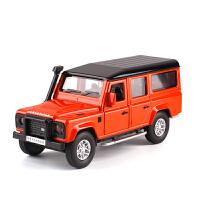 金属收藏1/36路虎卫士越野车小汽车模型儿童玩具开门回力