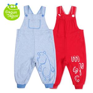 【加拿大童装】Gagou Tagou婴幼儿男宝宝纯棉双层两用裆背带裤外出服GT1502K8005
