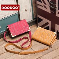 【支持礼品卡】DOODOO 女包包2017新款韩版单肩包斜挎包菱格包时尚百搭女士小包潮 D6168