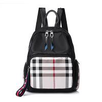 新款女士双肩包 英伦学院风背包 大容量背包旅游包搭牛津布包女包