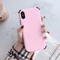 iPhone8plus手�C�ぬO果XSMAX液�B硅�ziPhoneXR全包防摔保�o�套磨砂7plus��s 液�B硅�z 粉色(�H