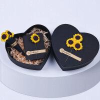 礼品盒心形浪漫大号七夕情人节生日创意爱心形礼盒包装盒子 +礼袋