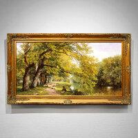 油画手绘美式乡村风景画欧式客厅沙发背景装饰画玄关挂画定制 205*115 单幅