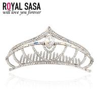 皇家莎莎RoyalSaSa结婚头饰 皇冠婚纱发夹发饰首饰品 礼服配饰人造水晶盘发插梳发梳07SP348