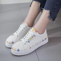 妃枫霏女士小白鞋韩版百搭时尚学生鞋厚底系带增高板鞋潮鞋